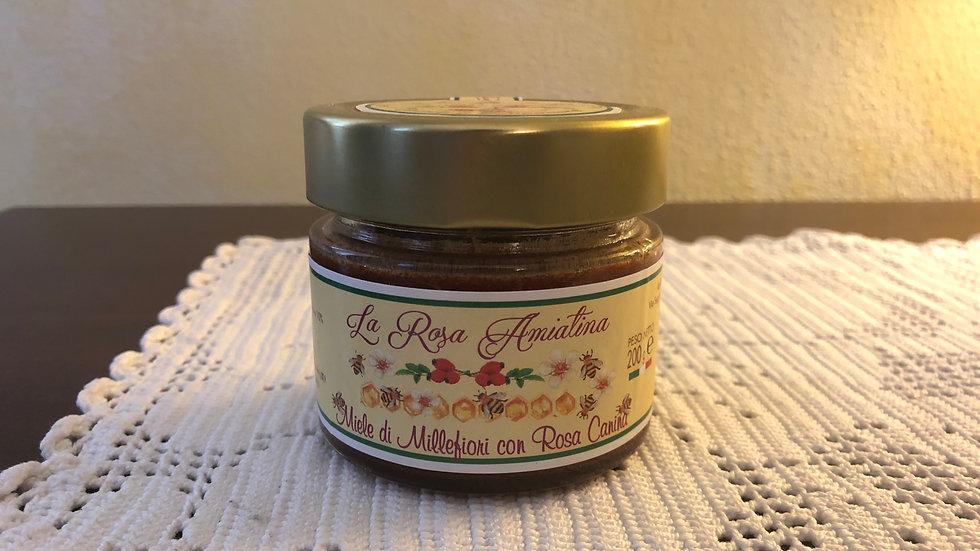 Miele di Millefiori con Rosa Canina  200 g