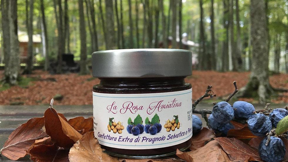 Confettura Extra di Prugnolo Selvatico e Pera  180 g