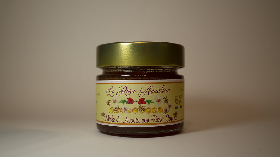 Miele di Acacia con Rosa Canina  200g