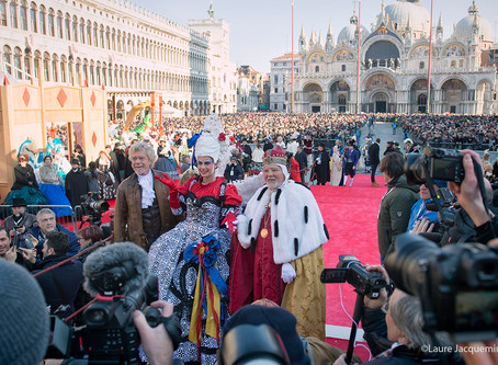 The Carnival Carnival Venice 2018 The flight of the Angel