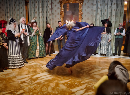 Venice Carnival at Bauer hotel concert by photographer Laure Jacquemin