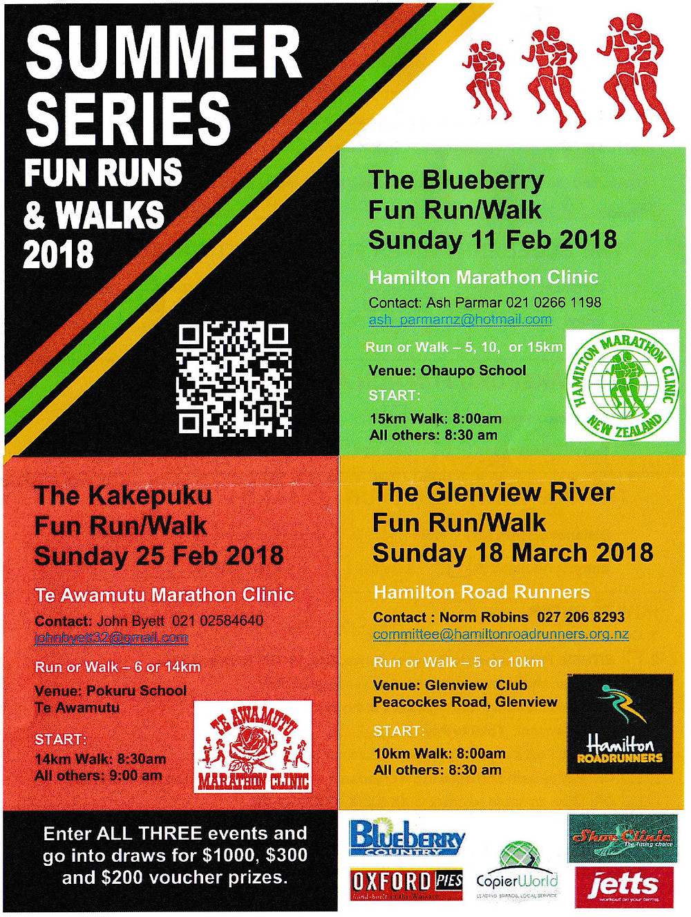 Waikato Summer Series Fun Runs 2018