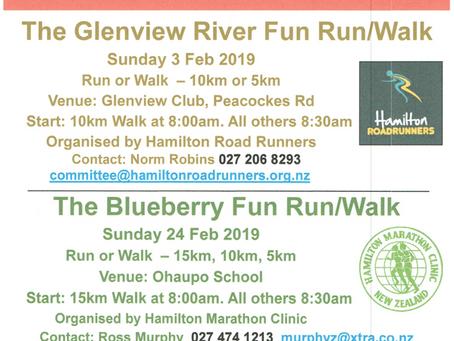 Join Us for the Summer Series Fun Runs & Walks - Feb 2019