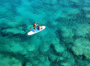 Aerial drone photo of couple practicing