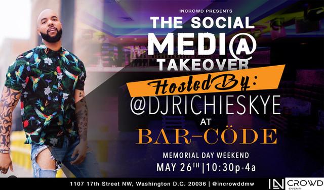 Richie Skye to Host @InCrowdDMV Social Media Takeover