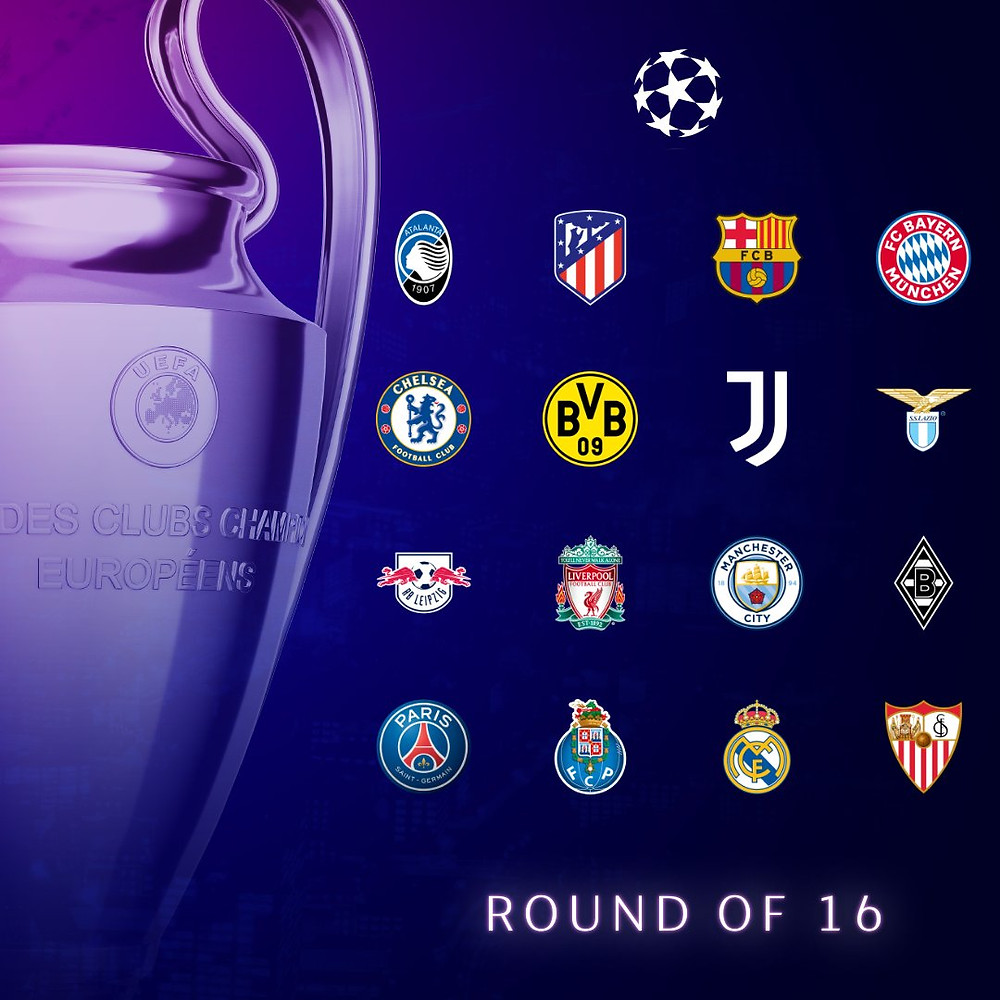 Os 16! Fonte: Champions League (Twitter)