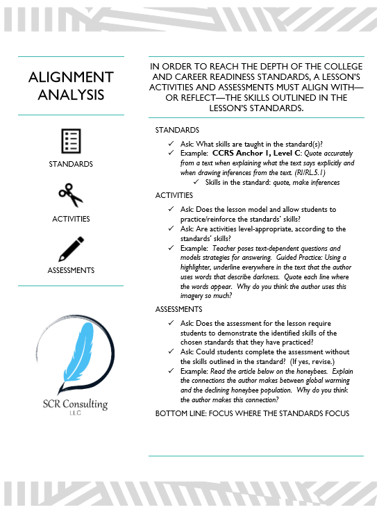 Stress-Free Aligning of Standards, Activities, and Assessments