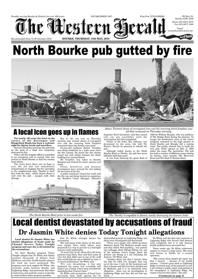 Flashback - North Bourke pub gutted by fire - 2010
