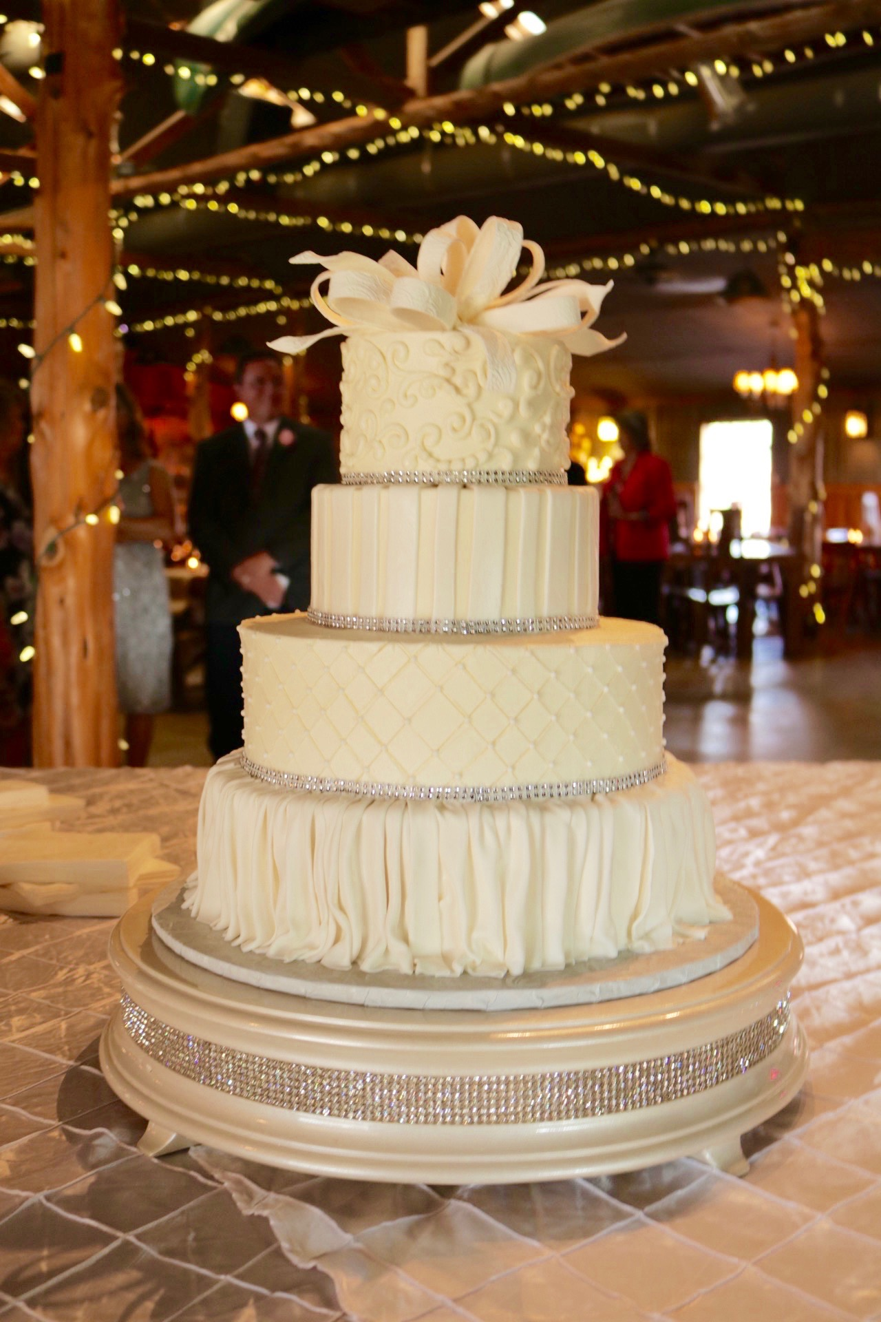 Buttercream and Fondant Wedding Cake