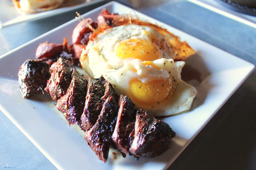 Hangar Steak Eggs 4 Eat & Drink