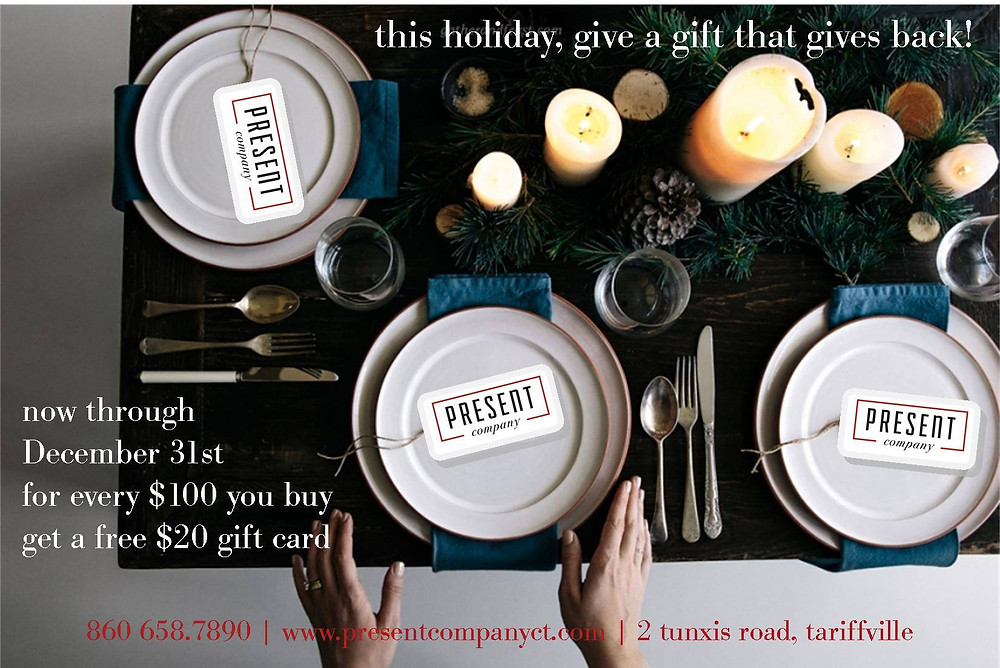 Present Company Simsbury CT Holiday gift cards