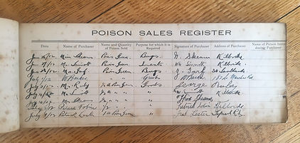 Poison Sales Register inside