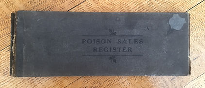 Poison Sales Register cover