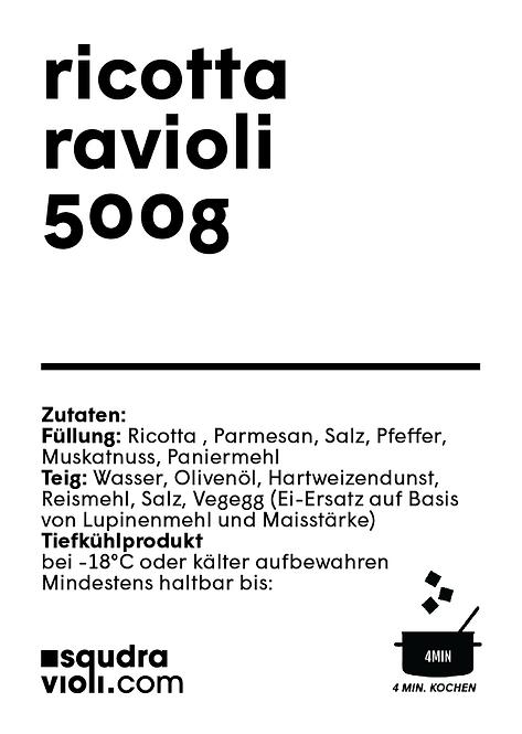 Ravioli di ricotta / 500g