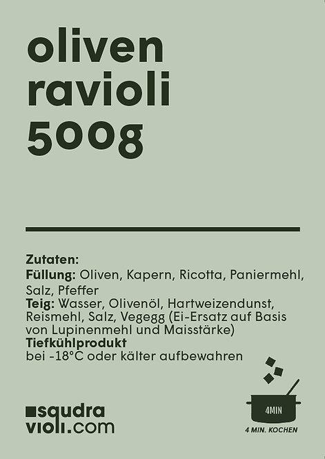 Ravioli con olive e capperi / 500g