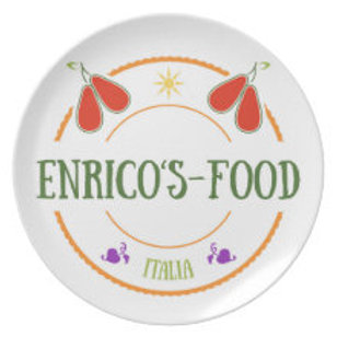 Enrico's Food Melamine Plate