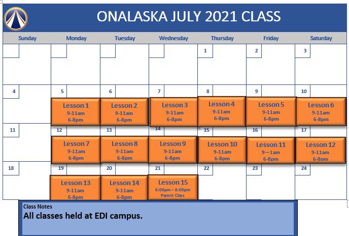 Onalaska July