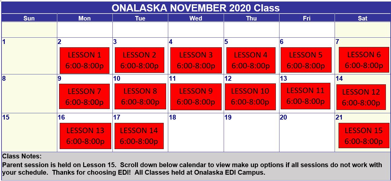 Onalaska Nov 2020