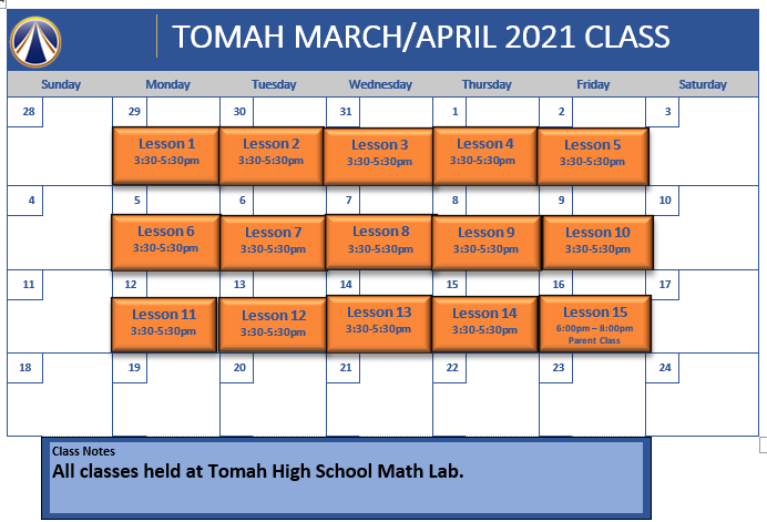 Tomah March April