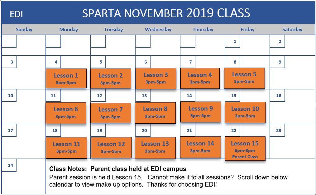 2019 Nov - Sparta