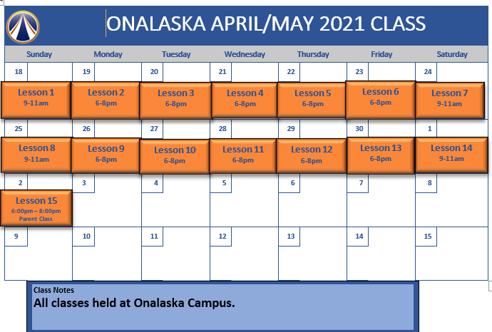 Onalaska April  May 2021