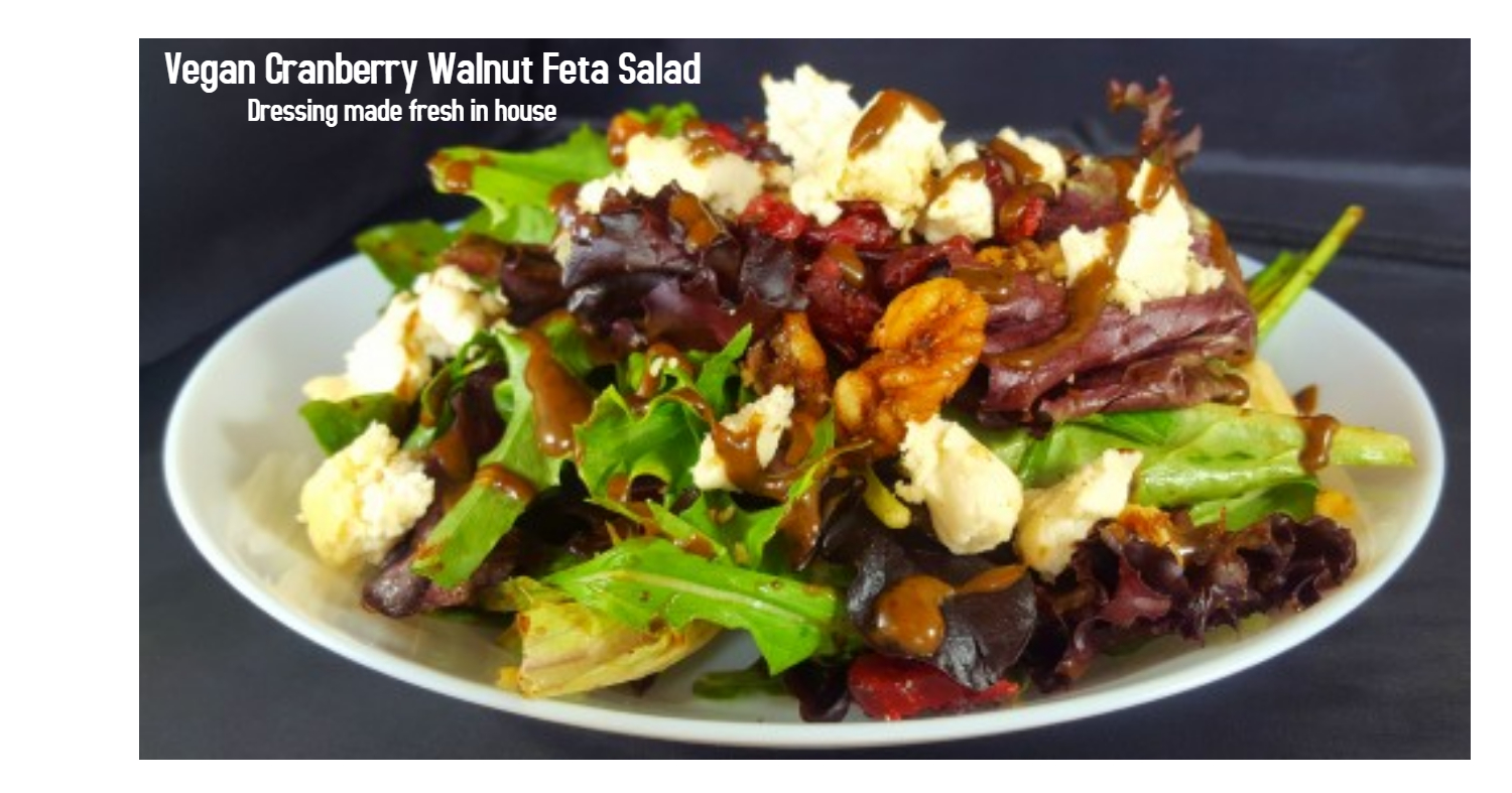 Vegan Cranberry walnut feta salad