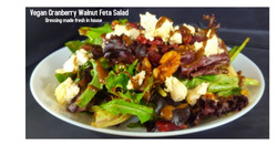 Vegan Cranberry walnut feta salad