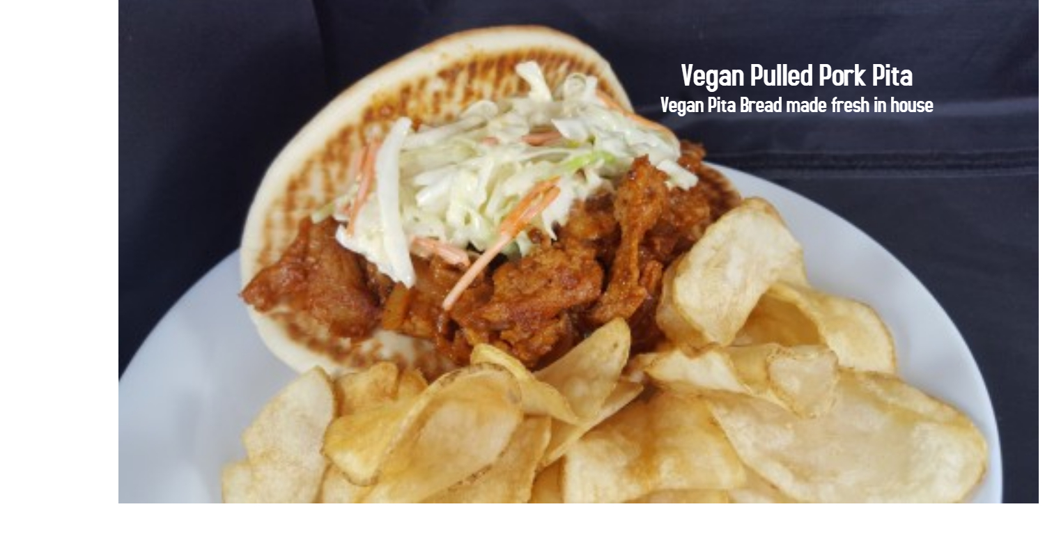 Vegan Pulled Pork Pita