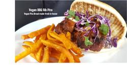Vegan BBQ Rib Pita