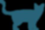 Blue Cat Silhouette