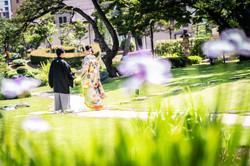 和装・色打掛・前撮り・ロケーション・肥後細川庭園