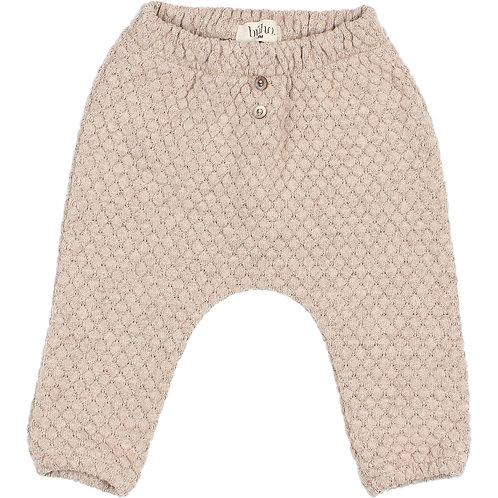 búho barcelona - Soft Jacquard Pants natural