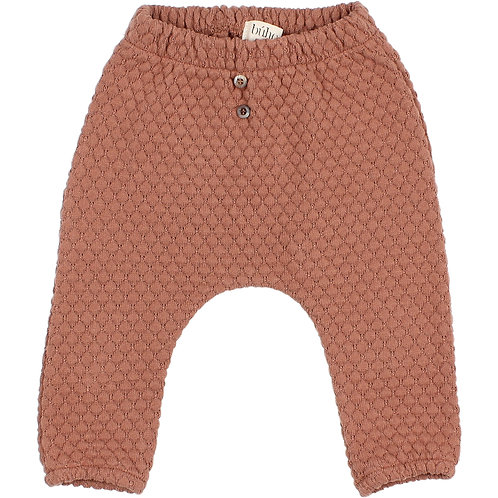 búho barcelona - Soft Jacquard Pants antic rose