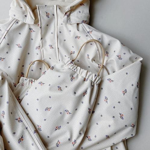 Konges Sløjd - Palme Rainwear Set Solid Fleece Flower Bouquet