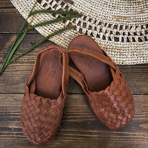 The Simple Folk - The Woven Sandal tan