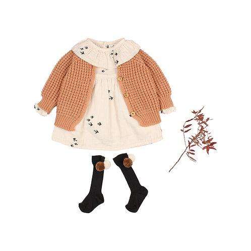 búho barcelona - Baby Soft Knit Cardigan hazel