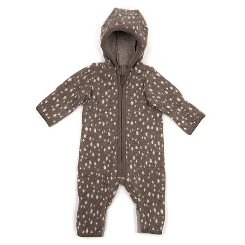 HUTTELiHUT - Emmie Babysuit no ears wool fleece bambi