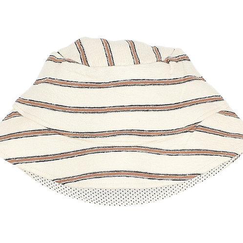 búho barcelona - Navy Stripes Hat Cocoa