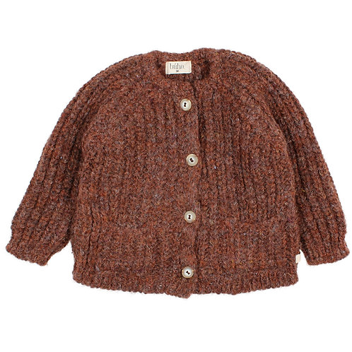 búho barcelona - Baby Ribbed Knit Cardigan