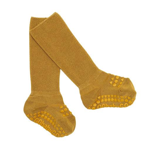 GoBabyGo - Rutschfeste Socken Bambus Mustard