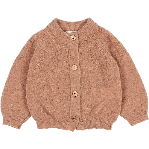búho barcelona - Fine Knit Cardigan antic rose