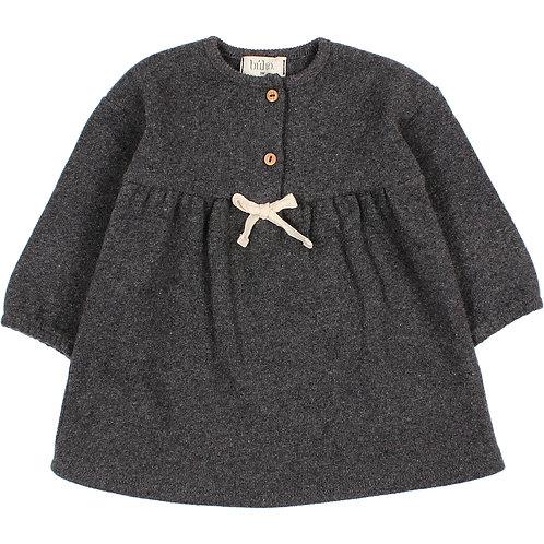 búho barcelona - Baby Soft Jersey Dress antracite