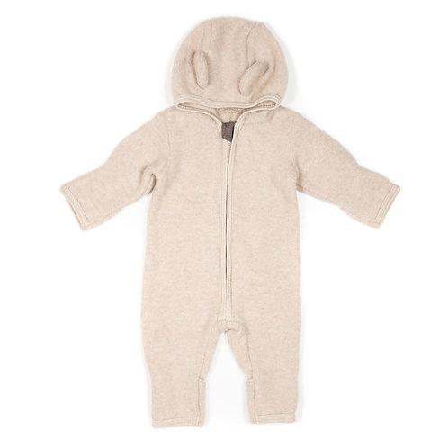 HUTTELiHUT - Allie Babysuit with ears wool fleece camel