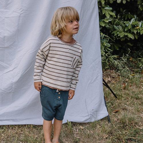 búho barcelona - Kids Navy Stripes Sweater Cocoa