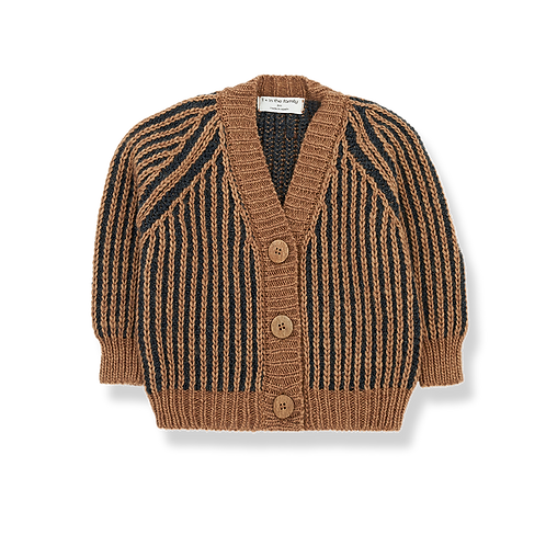 1+ in the family - Daniel Cardigan charcoal