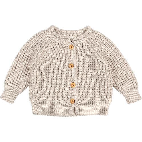 búho barcelona - Baby Soft Knit Cardigan natural