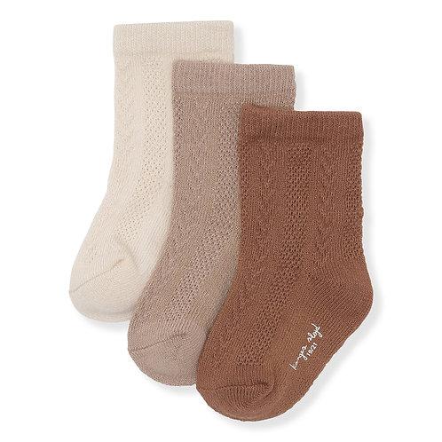 Konges Sløjd - 3er Pack Pointelle Socken