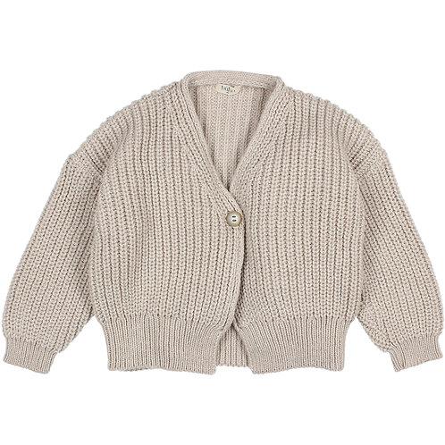 búho barcelona - Soft Knit Cardigan natural