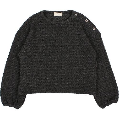 búho barcelona - Kids Soft Jacquard Sweatshirt antracite