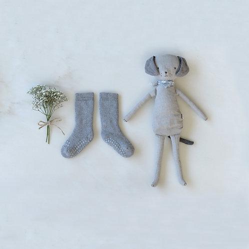 GoBabyGo - Rutschfeste Socken Grey Melange